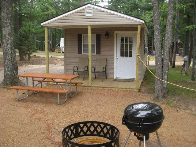 Chain O' Lakes Campground -- a sleeping cabin