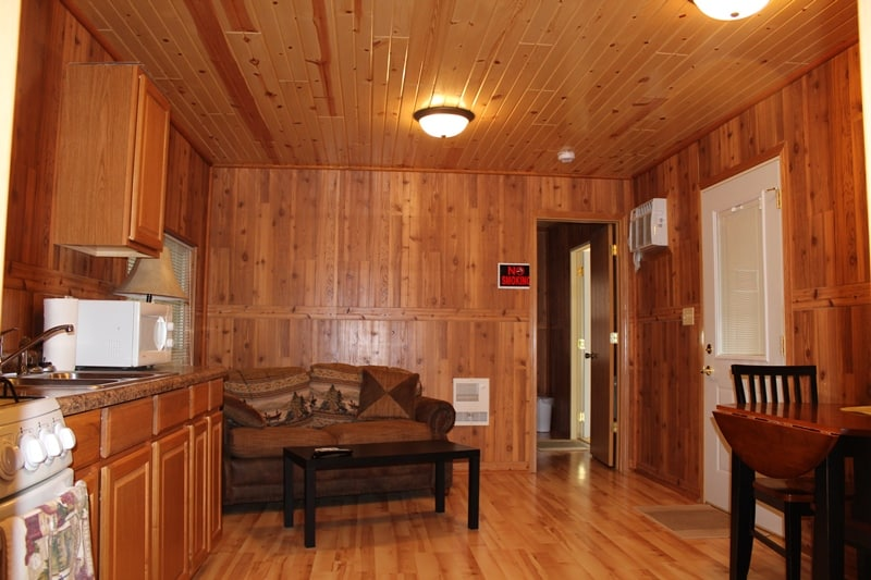 Chain O Lakes Campground --The Deluxe Cabin's Main Room