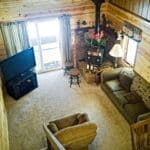 Chain O' Lakes Campground Eagle River Wisconsin view of the condominium's living room.